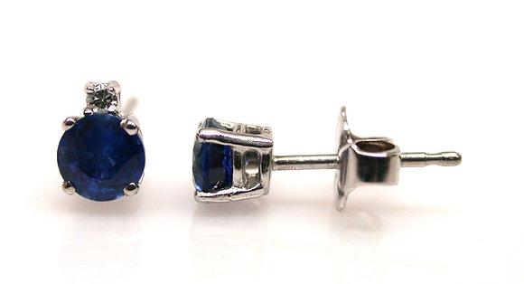 14kt Ceylon Sapphire & Diamond Earrings