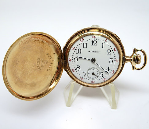 14kt Hunter Case Waltham Pocket Watch, 1916