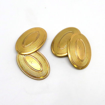 Gold Plate Cuff Links