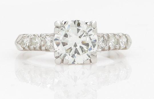 Vintage Platinum 1.09ct GIA Diamond Ring
