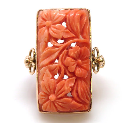 14kt Coral Ring