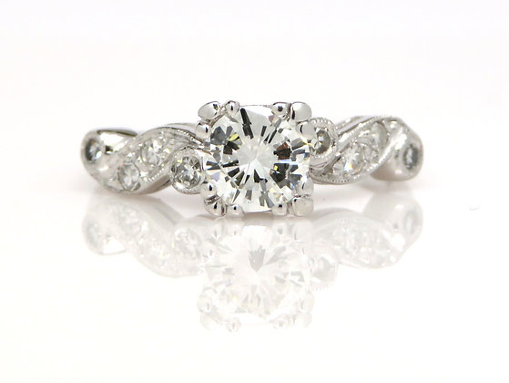 Platinum GIA 0.67ct Diamond Ring