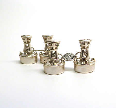 Sterling Channel Marker Cuff Links