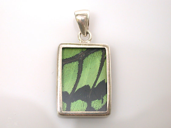 Green and Black Butterfly Pendant