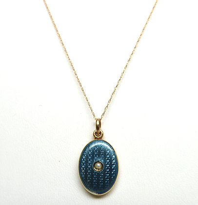 14K Enamel Locket