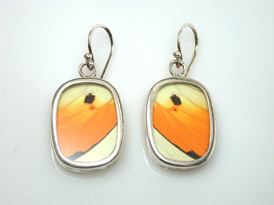 Yellow and Orange Butterfly Earrings