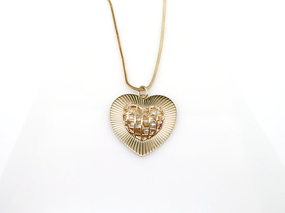 14kt Heart Pearl Pendant