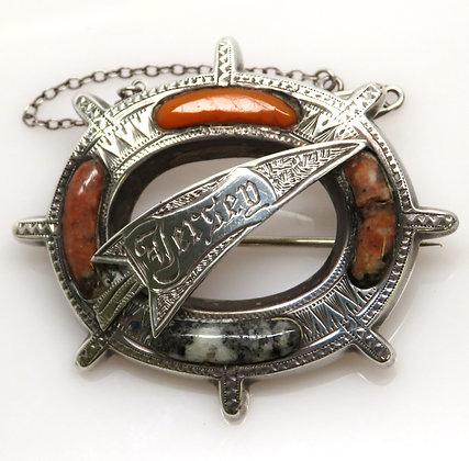 Victorian Scottish Agate Pin