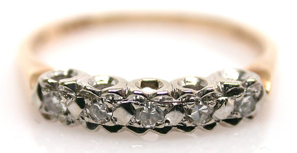 14kt Diamond Band