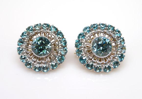 14kt Zircon Earrings