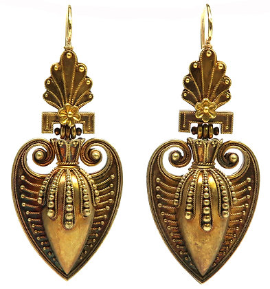 18kt Etruscan Revival Earrings