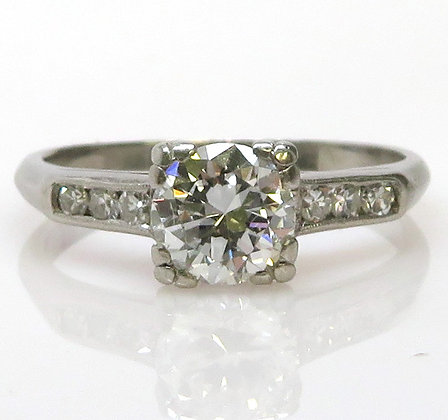 Platinum 0.72ct Diamond Ring