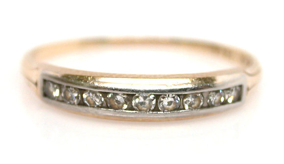 14kt/Palladium Diamond Band