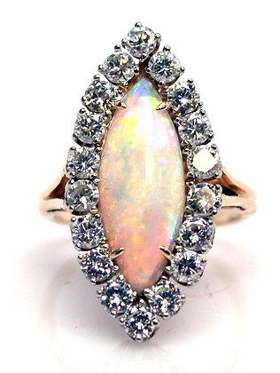 14kt Opal & Diamond Ring