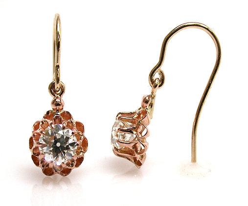 18kt/14kt Diamond Dangle Earrings