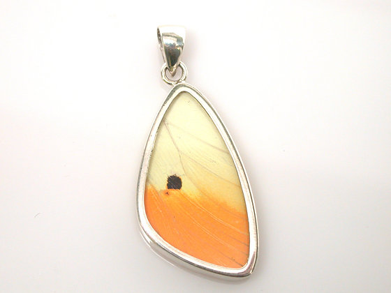 Yellow and Orange Butterfly Pendant