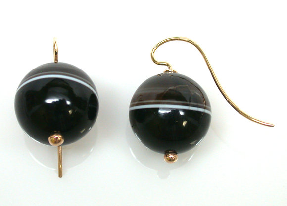 14kt Banded Agate Earrings