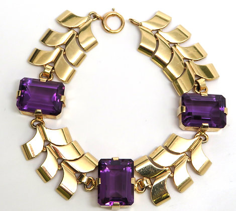 14K Amethyst Wordley, Allsopp & Bliss Bracelet