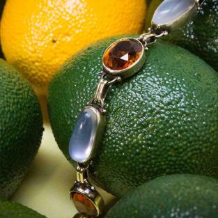 Moon Stone & Citrine Bracelet