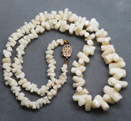 GUMPS White Coral Branch Necklace