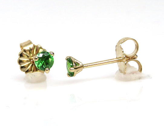 14K Demantoid Garnet Stud Earrings