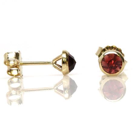 14kt Rose Cut Garnet Earrings