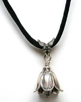 Sterling Silver Chocolate Lily Bell