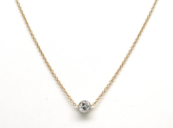 14kt Bezel Set Diamond Pendant