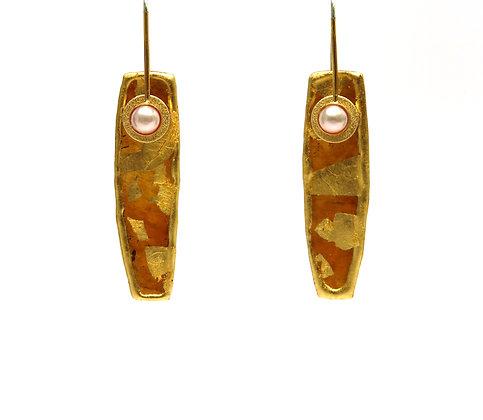 Mica Pearl 23K Vermeil Earrings