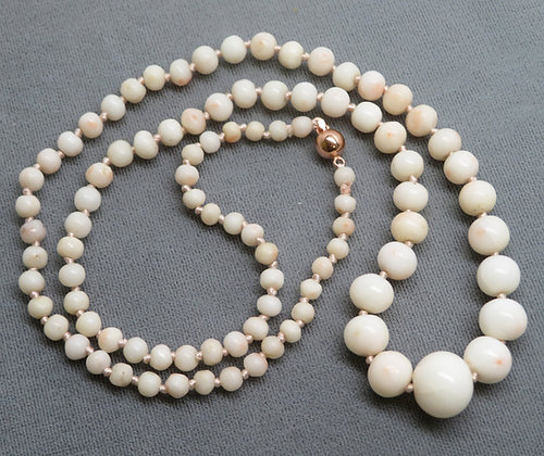 White Coral Bead Necklace
