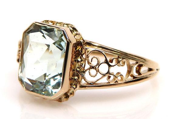 Antique 10kt Aquamarine Ring