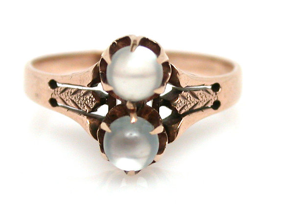10kt Victorian Moonstone Ring