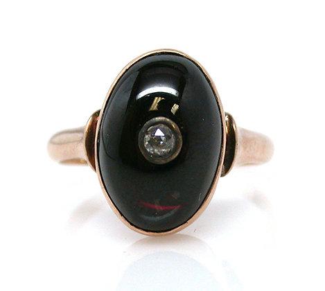 14kt Garnet & Diamond Ring