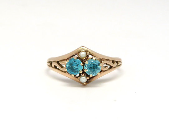 Zircon and Pearl Ring