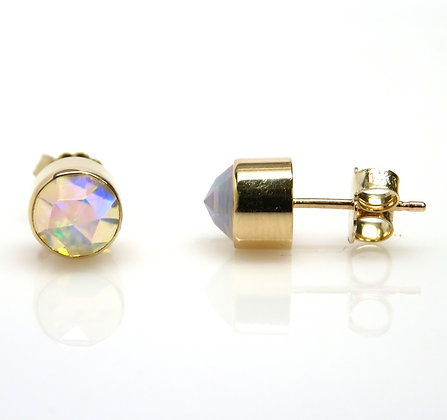 14K Ethiopian Opal Earrings