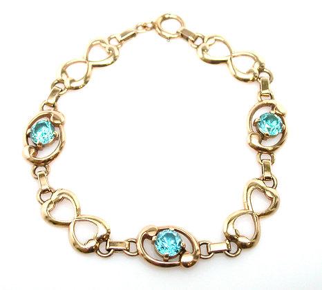 14kt Blue Zircon Bracelet