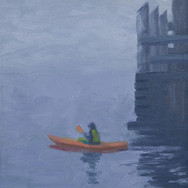 Solo Kayaker at Romeo's Pier