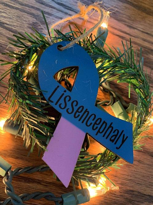 Awareness ribbon ornament