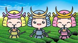 Our cute Samurai Tea characters