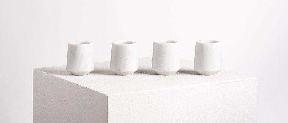 MEZCALEROS GRADIVA WHITE MARBLE - 4 PIECES