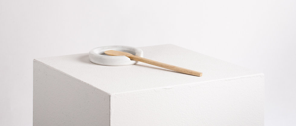 SPOON REST WHITE MARBLE