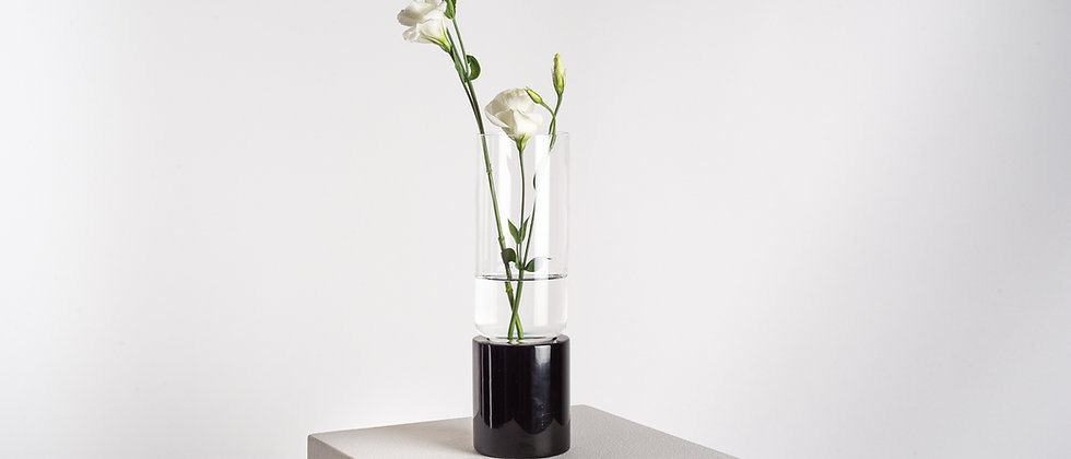 SOLIFLOR FLOWER VASE TALL MARBLE