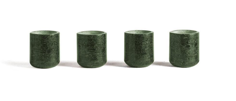 MEZCALEROS CICLADES GREEN MARBLE - 4 PIECES