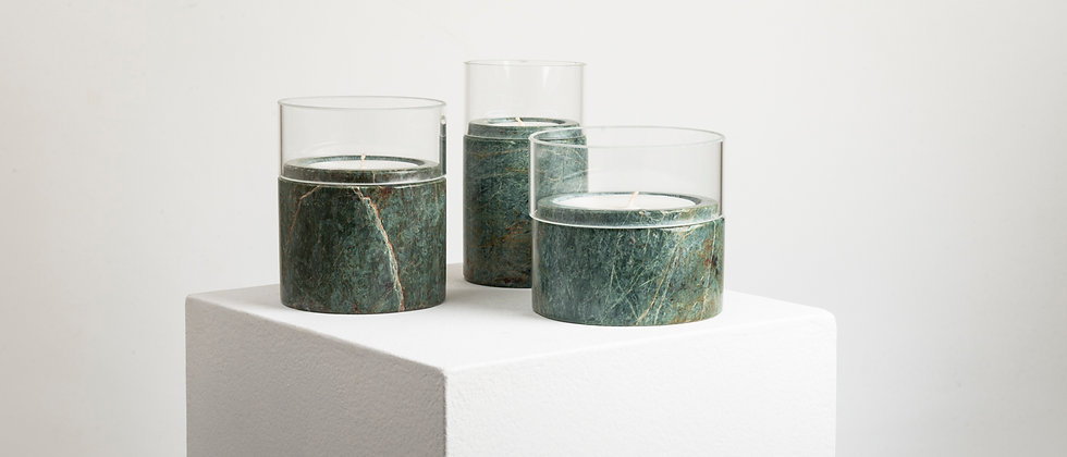 SANTUARIO GREEN MARBLE GLASS CANDLES