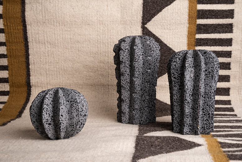 and jacob tulum cactus lava stone design basalt
