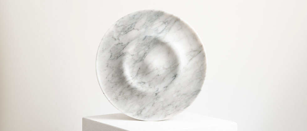 OLA WHITE MARBLE PLATE
