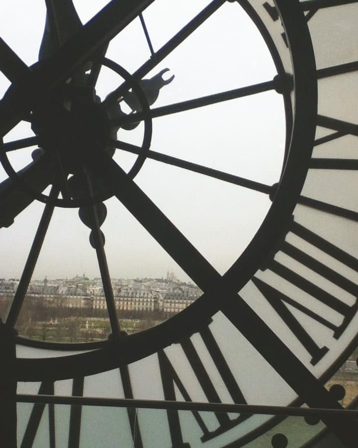パリ、オルセー美術館の窓から