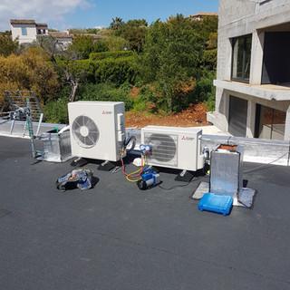 electricite et chauffage ,installation et mise en service de six Gainable