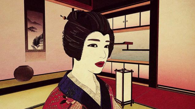江戸を題材にした浮世絵風イメージ動画