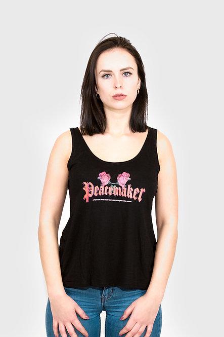 """LYTD - Schwarzes Träger-Top mit """"Peacemaker"""" Schriftzug (Fair Wear)"""